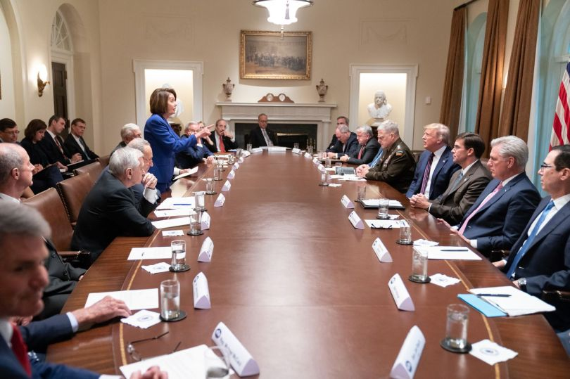 Pelosi finger points